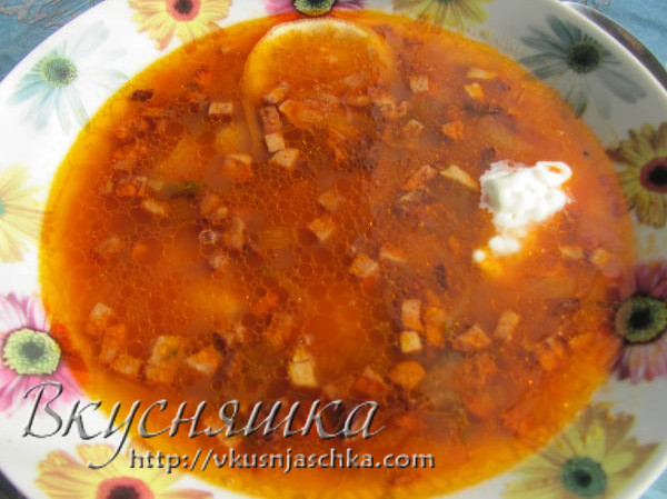 изображение Суп солянка рецепт приготовления в домашних условиях