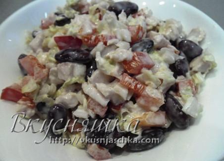 изображение Салат с консервированной красной фасолью рецепт с фото