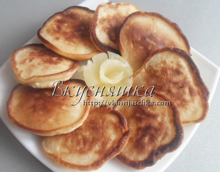 Рецепт оладьев с ананасами