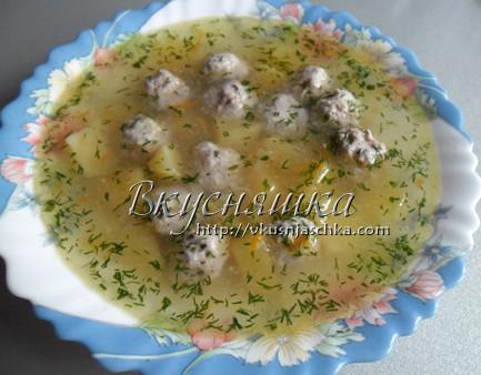 изображение Суп с фрикадельками в мультиварке рецепт с фото