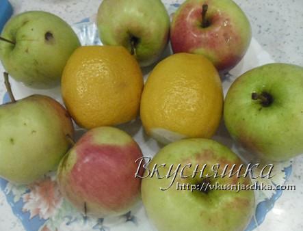 Живое варенье из яблок и лимонов