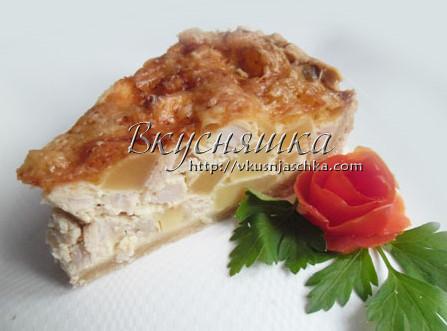 изображение Пирог с картошкой и курицей в духовке
