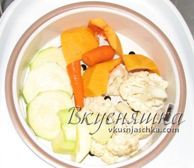 изображение Овощи на пару в мультиварке рецепты с фото