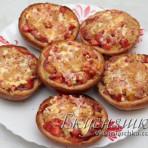 фото пиццы на хлебе в духовке