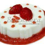 изображение Творожный десерт с желатином и фруктами