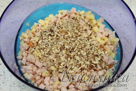 изображение Очень вкусный Салат из копченой курицы рецепт с фото