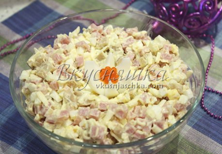 изображение Салат с плавленным сыром рецепт с фото