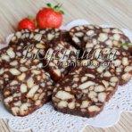 изображение Шоколадная колбаска из печенья. Рецепт с фото.