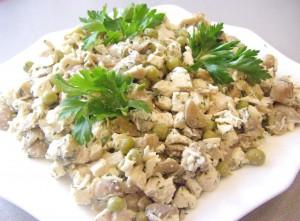 изображение Салат с шампиньонами и курицей рецепт с фото очень вкусный