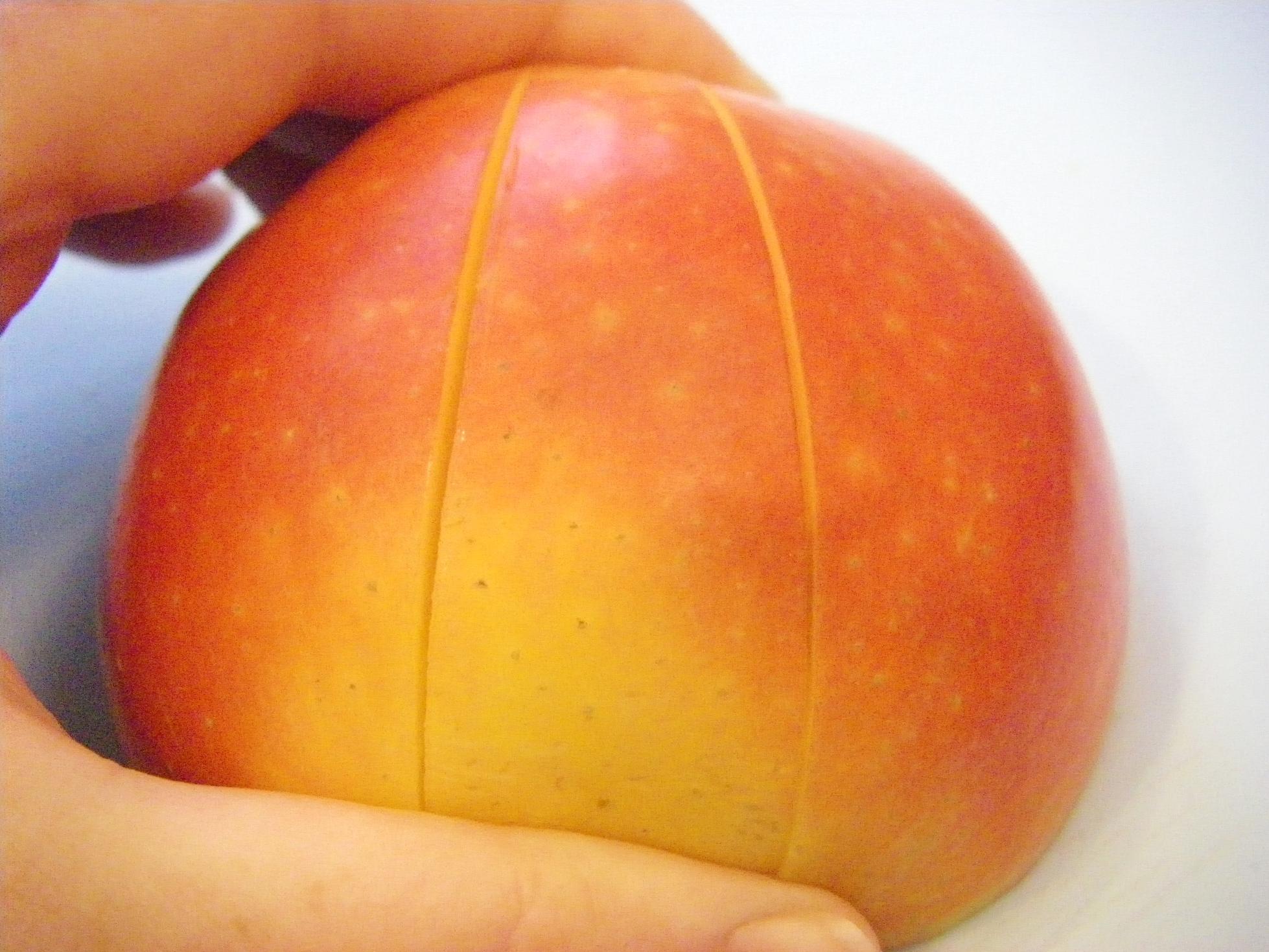 Как красиво нарезать яблоки на стол пошаговое описание и фото