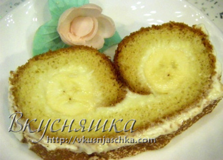 изображение Рулет бисквитный с кремом пошаговый рецепт с фото