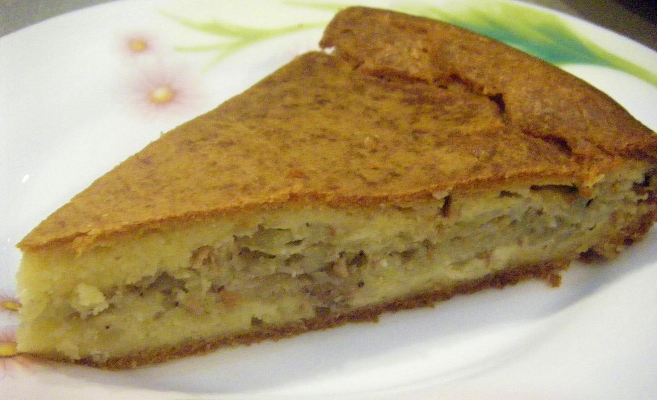 изображение Пирог с рыбными консервами рецепт с фото пошагово в духовке