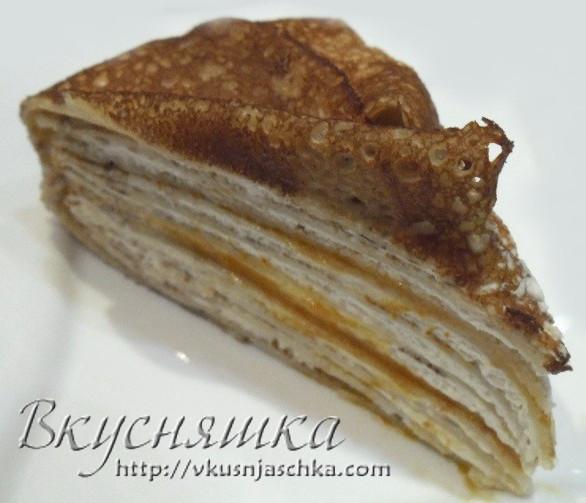 Изображение, Блинный торт. Рецепт с фото в домашних условиях.