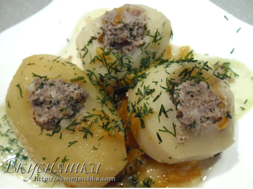 Фаршированная картошка в мультиварке рецепт с фото