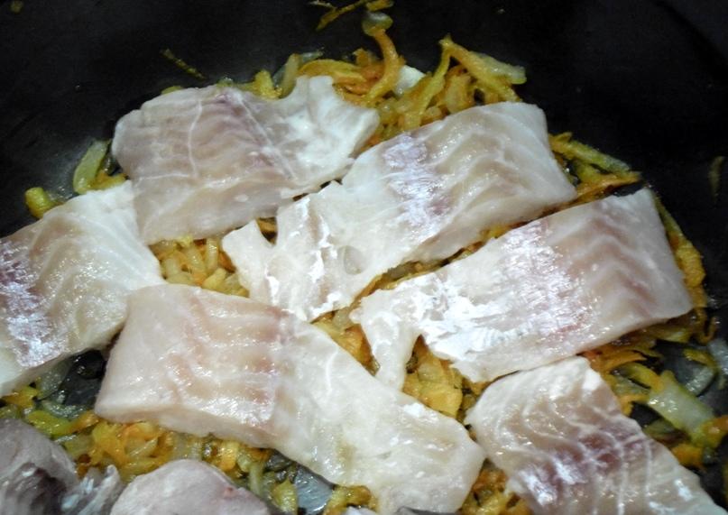 Рыба в омлете