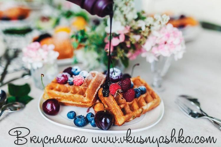 изображение Рецепт венских вафель для электровафельницы