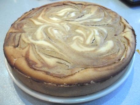 Творожный пирог с хурмой