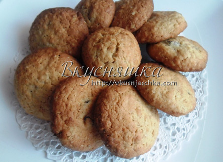 изображение Простой рецепт домашних овсяных печений