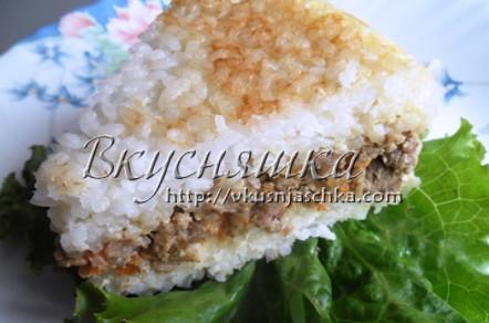 Рисовая запеканка в мультиварке