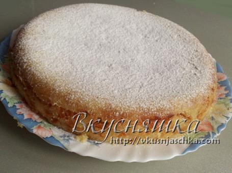 изображение Яблочный пирог в мультиварке рецепт с фото