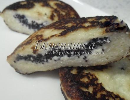 Рецепт сырников с маком