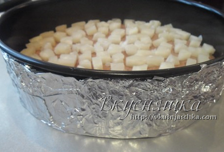 изображение Торт-суфле с фруктами рецепт с фото