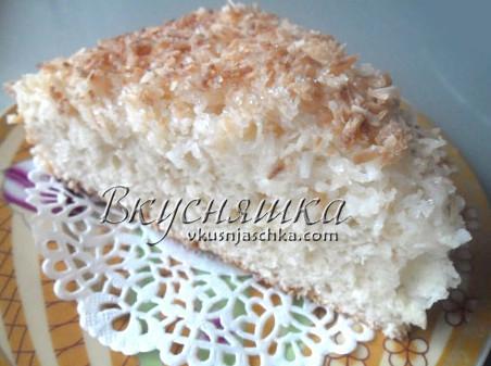 Торт кокосовый в мультиварке