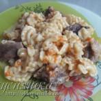 изображение Мясо с макаронами в мультиварке рецепт
