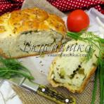 Хлеб с молодым чесноком и зелёным луком