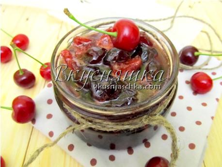 изображение Рецепт вишневый конфитюр