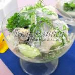 Салат из сельди и огурца