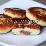 Рецепт сырников с шоколадом