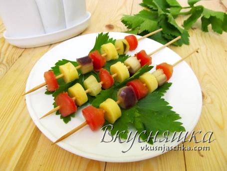 Закуски из овощей с фото