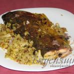 Блюда из толстолобика: толстолобик, запеченный с рисом