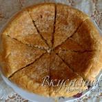 Пирог в мультиварке с рыбно-рисовой начинкой