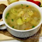 Суп из белой гречки в мультиварке