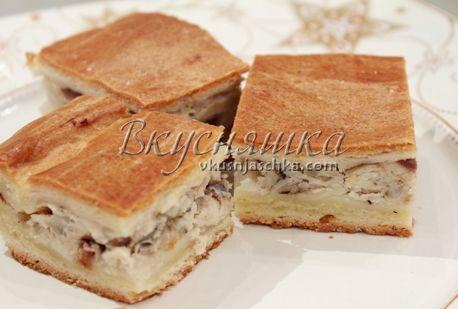 пирог со скумбрией