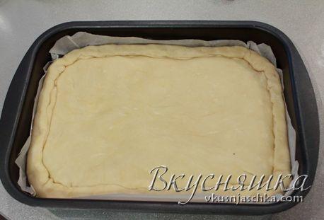 изображение Рыбный пирог из дрожжевого теста рецепт с фото