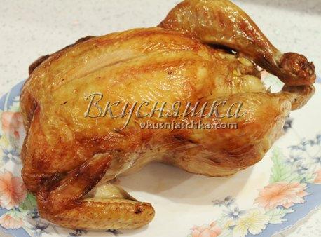 изображение Курица с солью целиком в духовке рецепт с фото