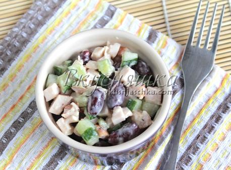 изображение Салат с фасолью рецепт с фото пошагово