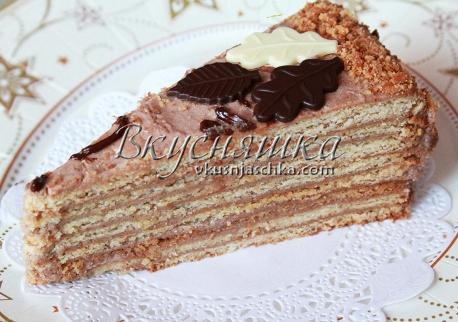изображение Торт с заварным кремом рецепт с фото пошагово