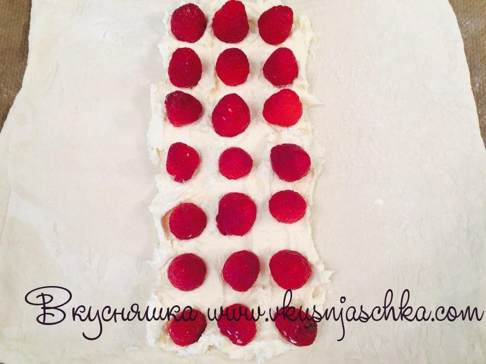 изображение Выпечка из слоено-дрожжевого теста рецепт с фото пошагово