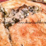 изображение Пирог со шпинатом и сыром из слоеного теста