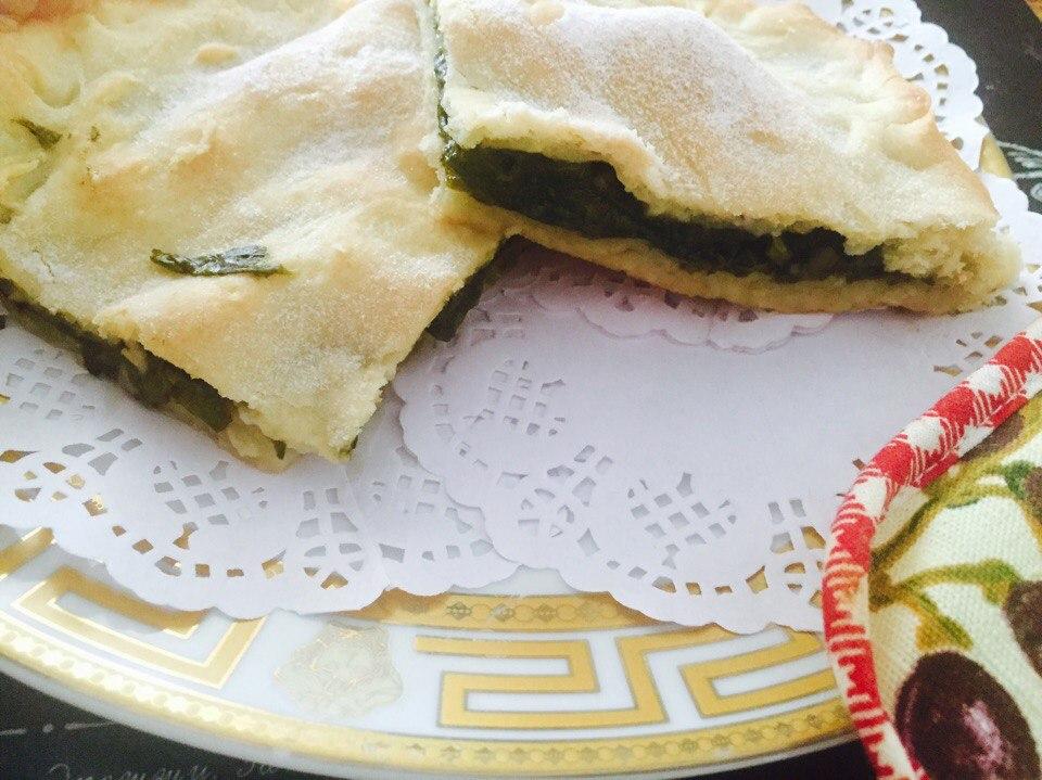 Пирог с щавелем из песочного теста рецепт с пошагово в духовке